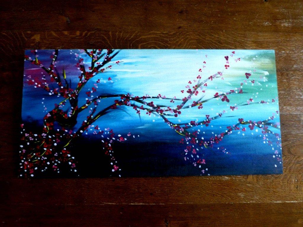 Doeuvreetdart archive du blog ambiance asiatique - Peinture acrylique sur bois brut ...